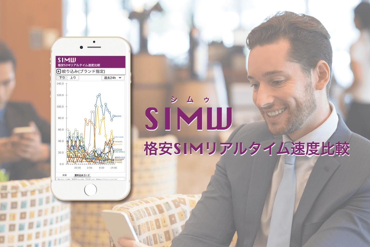 世界初の格安SIMリアルタイム速度比較サービス【SIMW】を開発スタート